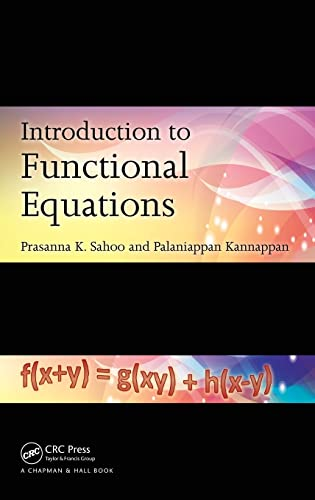 9781439841112: Introduction to Functional Equations
