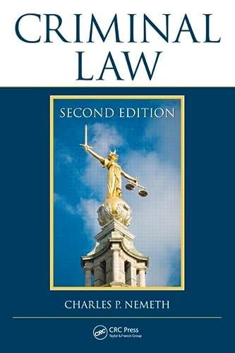 9781439861714: Criminal Law, Second Edition