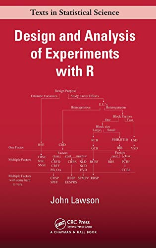 9781439868133: Design and Analysis of Experiments with R (Chapman & Hall/CRC Texts in Statistical Science)