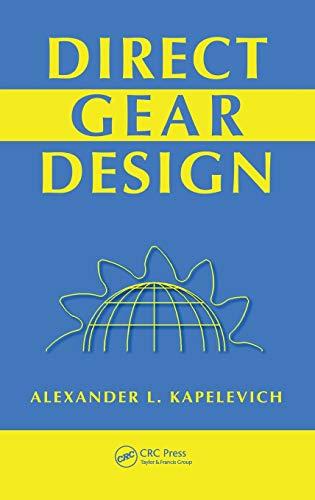 9781439876183: Direct Gear Design