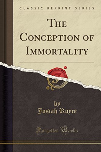 9781440032264: The Conception of Immortality (Classic Reprint)