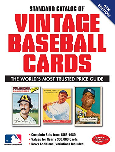 Standard Catalog of Vintage Baseball Cards (Paperback): Sports Collectors Digest