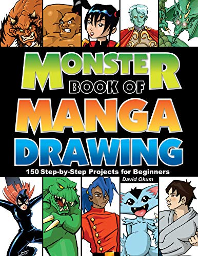 9781440332098: Monster Book of Manga Drawing: 150 Step-by-Step Projects for Beginners
