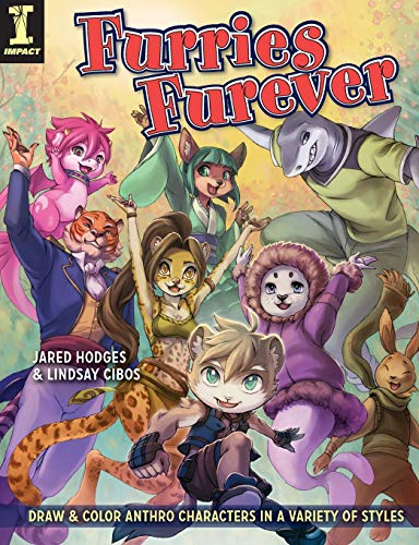 9781440334412: Furries Furever: Draw and Color Anthro Characters in a Variety of Styles