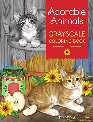 9781440350511: Adorable Animals Grayscale Coloring Book