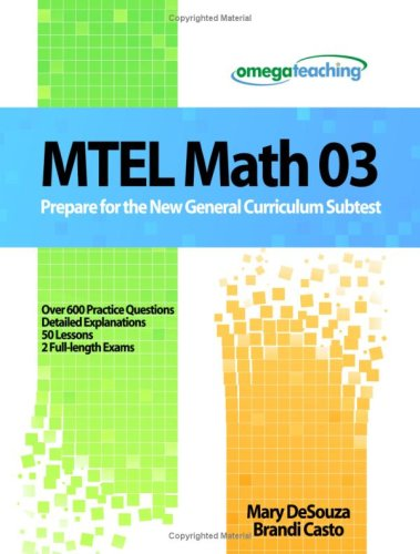 9781440403071: MTEL Math 03: Prepare for the New General Curriculum Subtest
