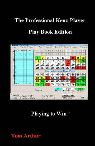 9781440417153: The Professional Keno Player Play Book Edition