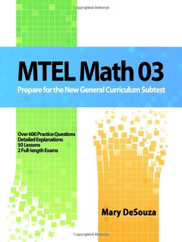 9781440440922: MTEL Math 03: Prepare For The New General Curriculum Subtest