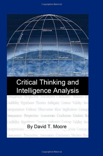 9781440441271: Critical Thinking And Intelligence Analysis: Csir Occasional Paper Number Fourteen