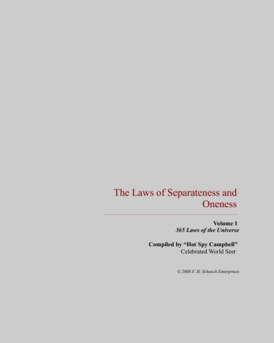 9781440451843: The Laws of the Universe: The Laws of Separateness & Oneness