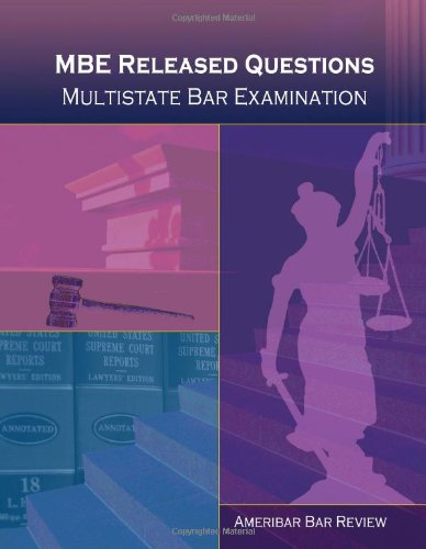 9781440469800: MBE Released Questions, Multistate Bar Examination