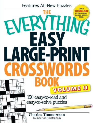 9781440500190: 2: The Everything Easy Large-Print Crosswords Book, Volume II: 150 easy-to-read and easy-to-solve puzzles