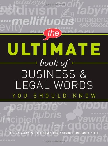 9781440510588: The Ultimate Book of Business and Legal Words You Should Know