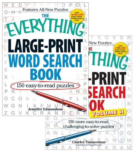 The Everything Large Print Word Search Bundle - Vol I and II: Edmondson, Jennifer; Timmerman, ...