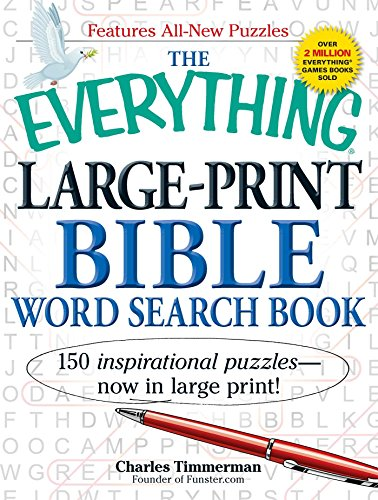 9781440530715: The Everything Large-Print Bible Word Search Book: 150 inspirational puzzles - now in large print! (Everything Series)