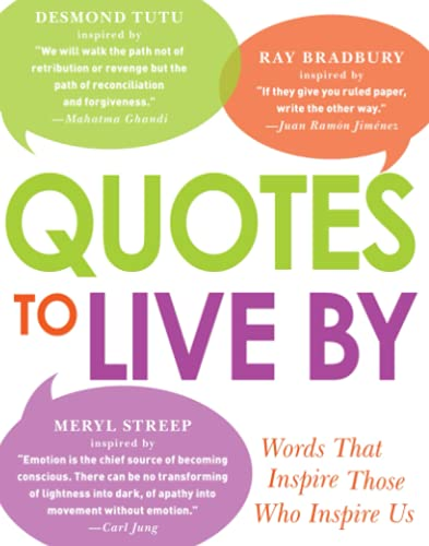 9781440560880: Quotes to Live By: Words That Inspire Those Who Inspire Us