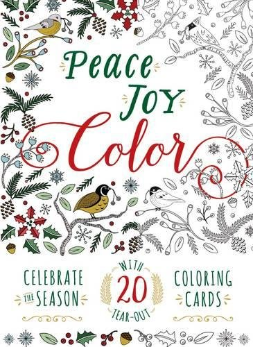 9781440593680: Peace. Joy. Color.: Celebrate the Season with 20 Tear-Out Coloring Cards (Adams Media)