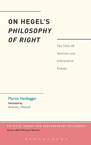 9781441149060: On Hegel's Philosophy of Right: The 1934-35 Seminar and Interpretive Essays (Political Theory and Contemporary Philosophy)