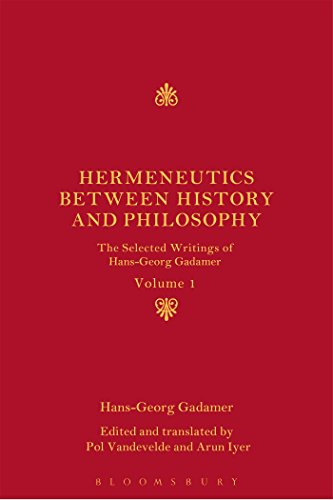 9781441158444: Hermeneutics between History and Philosophy: The Selected Writings of Hans-Georg Gadamer