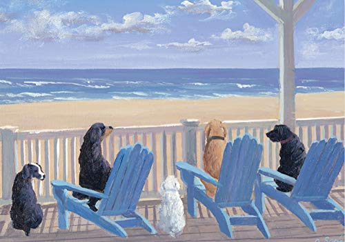 9781441303622: Dogs On Deck Chairs Note Cards