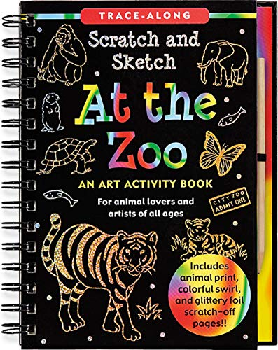 9781441305732: Scratch & Sketch at the Zoo (Trace-Along Scratch and Sketch)