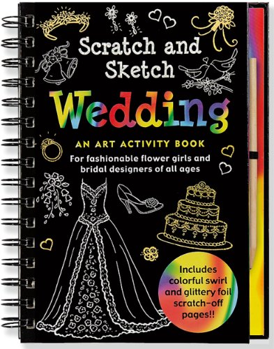 Wedding Scratch and Sketch 9781441307446 Dream up the perfect event, from designing the ring, decorating the cake, and creating a bouquet to trying on dresses and shoes! Use the