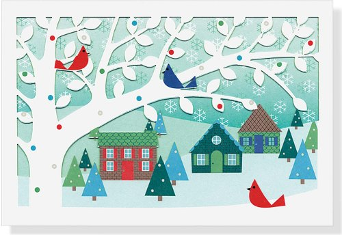 9781441307682: Village Birds Holiday Boxed Cards (Laser Cut Cards) (Christmas Cards, Holiday Cards, Greeting Cards)