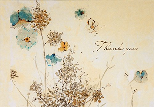 9781441308122: Watercolor Flowers Thank You Notes (Stationery, Note Cards)