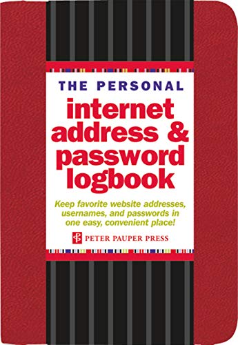 9781441308146: The Personal Internet Address & Password Logbook (removable cover band for security)