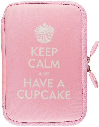NeoSkin Kindle Fire HDX Zip Sleeve, Keep Calm and Have a Cupcake (fits Kindle Fire HDX, Kindle Fire, and Kindle Keyboard) (1441308202) by Peter Pauper Press