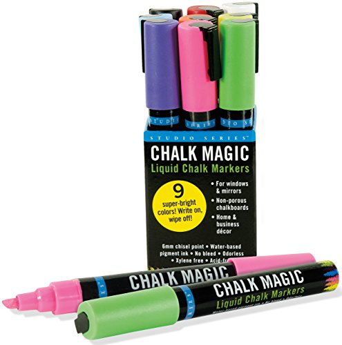 Chalk Magic Liquid Chalk Marker Set (Set of 9 Markers)