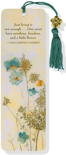 Watercolor Flowers Beaded Bookmark (1441309373) by Peter Pauper Press