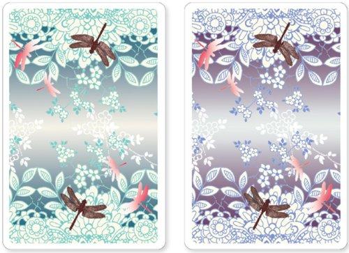 9781441309860: Dragonfly Premium Plastic Playing Cards, Set of 2, Bridge Size Deck (Standard Index)