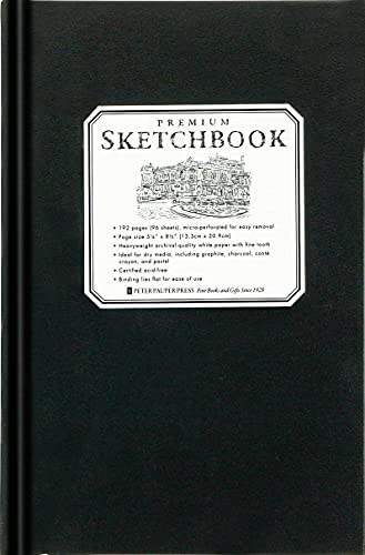 9781441310217: Premium Black Sketchbook - Small (5 1/2 inch x 8 1/2 inch, Micro-Perforated Pages)