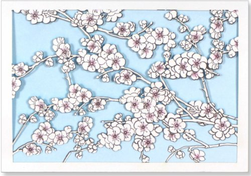 9781441310286: Cherry Blossoms Laser Cut Note Cards (Stationery, Boxed Cards)