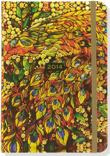 9781441311641: 2014 Stained Glass 16-Month Weekly Planner (Compact Engagement Calendar, Diary)