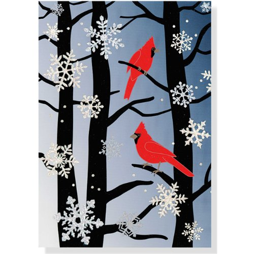 9781441311757: Cardinals and Snowflakes Large Boxed Holiday Cards (Christmas Cards, Holiday Cards, Greeting Cards)