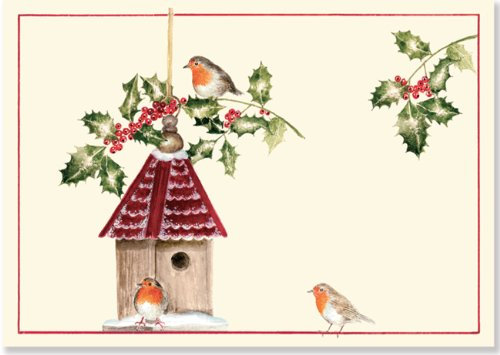 9781441311771: Birdhouse with Holly Small Boxed Holiday Cards (Christmas Cards, Holiday Cards, Greeting Cards)