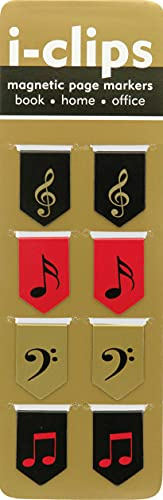 9781441312518: Music i-clips Magnetic Page Markers (Set of 8 Magnetic Bookmarks)