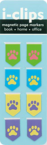 9781441312525: Pawprints i-clips Magnetic Page Markers (Set of 8 Magnetic Bookmarks)