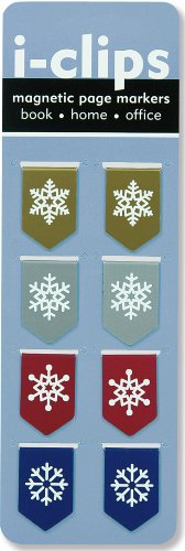 9781441313522: Snowflakes i-clip Magnetic Bookmark (Set of 8 Magnetic Bookmarks, Page Markers)