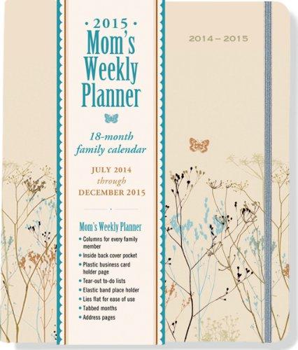 9781441314109: 2015 Butterflies Mom's Weekly Planner (18-Month Calendar, Family Calendar, Diary)