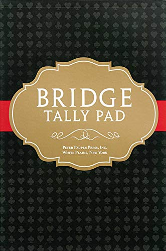 Bridge Tally Pad (Score Pad): Peter Pauper Press