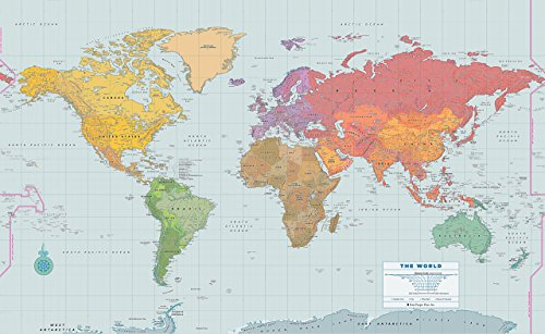 9781441314673: Peel & Stick World Wall Map