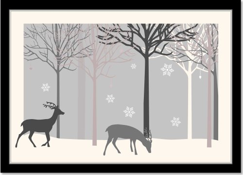 Winter Reindeer Walk Deluxe Boxed Holiday Cards