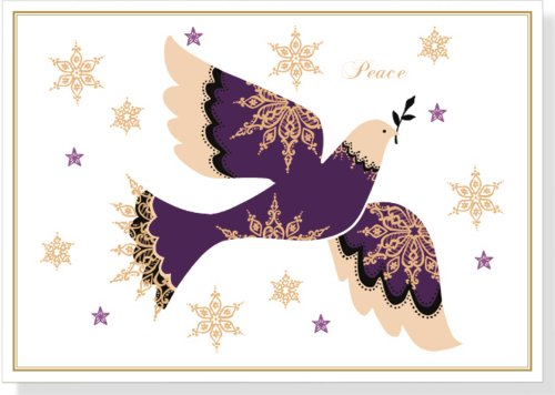 Snowflake Dove Deluxe Boxed Holiday Cards