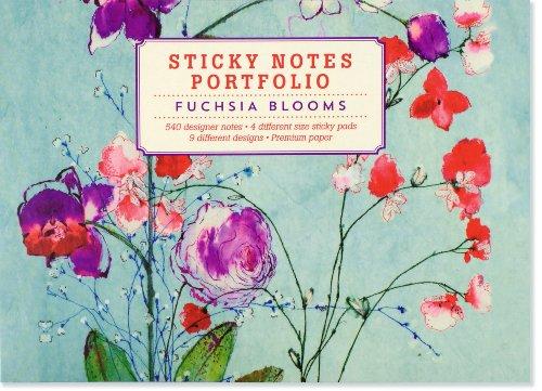 9781441315663: Fuchsia Blooms Sticky Notes Portfolio
