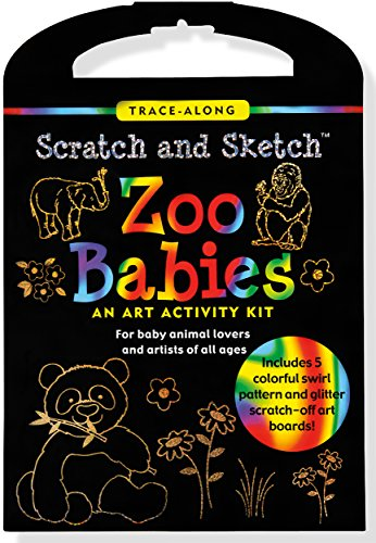 9781441315809: Scratch & Sketch Zoo Babies Trace-Along Kit: An Art Activity Kit