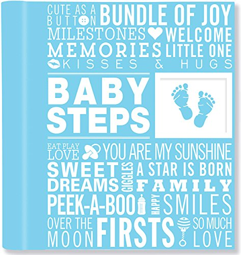 9781441315991: Baby Steps: Baby's First-Year Album - Blue