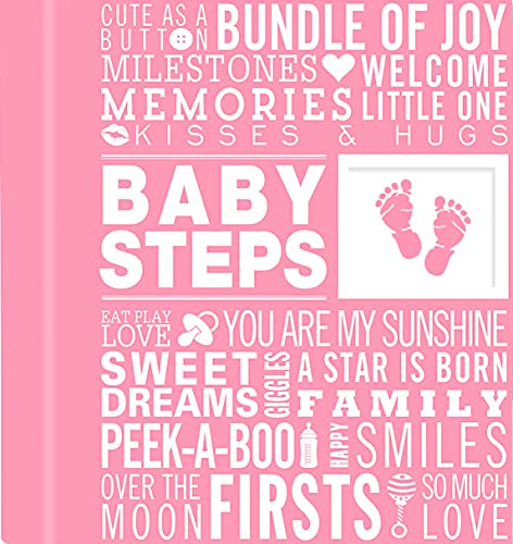 Baby Steps: Baby's First-Year Album (Girl's Baby Book)